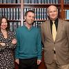 Dr. Ian Brown (center) with series organizers Professors Dawn Nunziato and Arturo Carrillo.